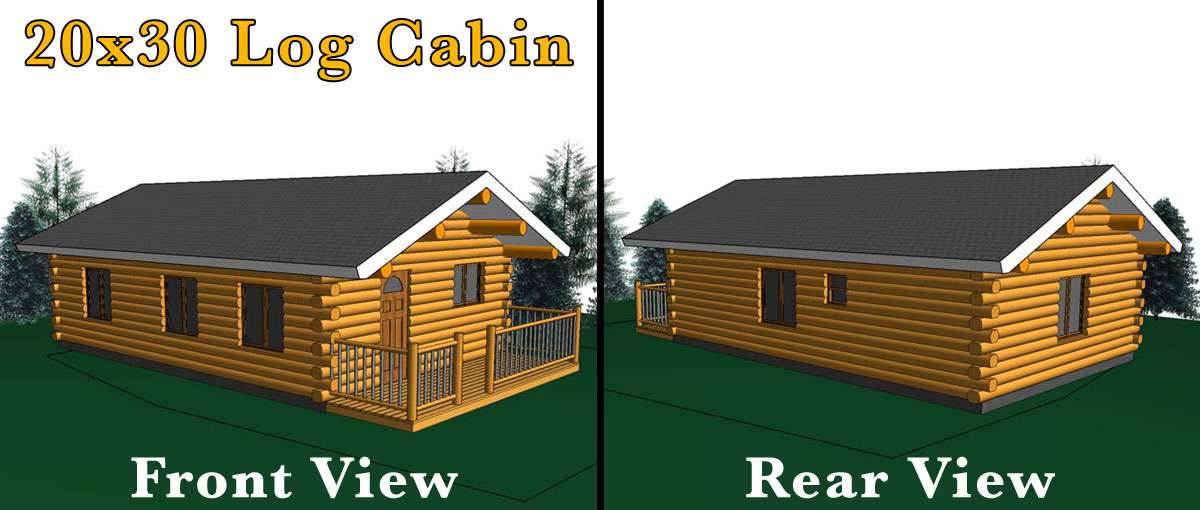 20x30 log cabin meadowlark log homes for 20x30 house designs and plans