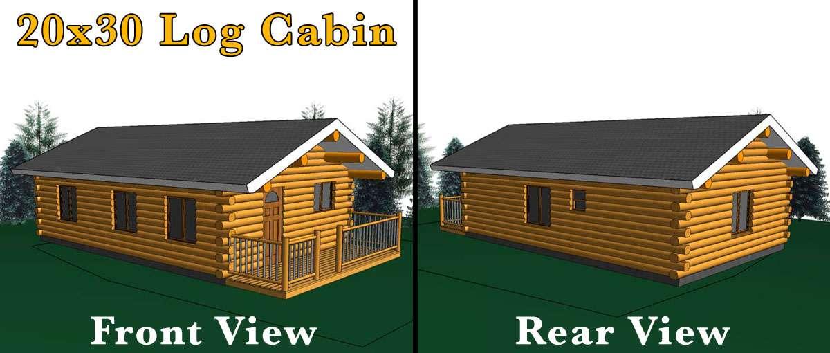 20x30 Log Cabin Meadowlark Log Homes