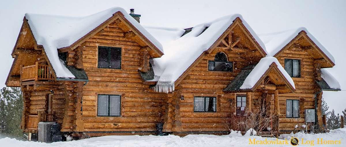 Snowshoe Log Lodge Meadowlark Log Homes
