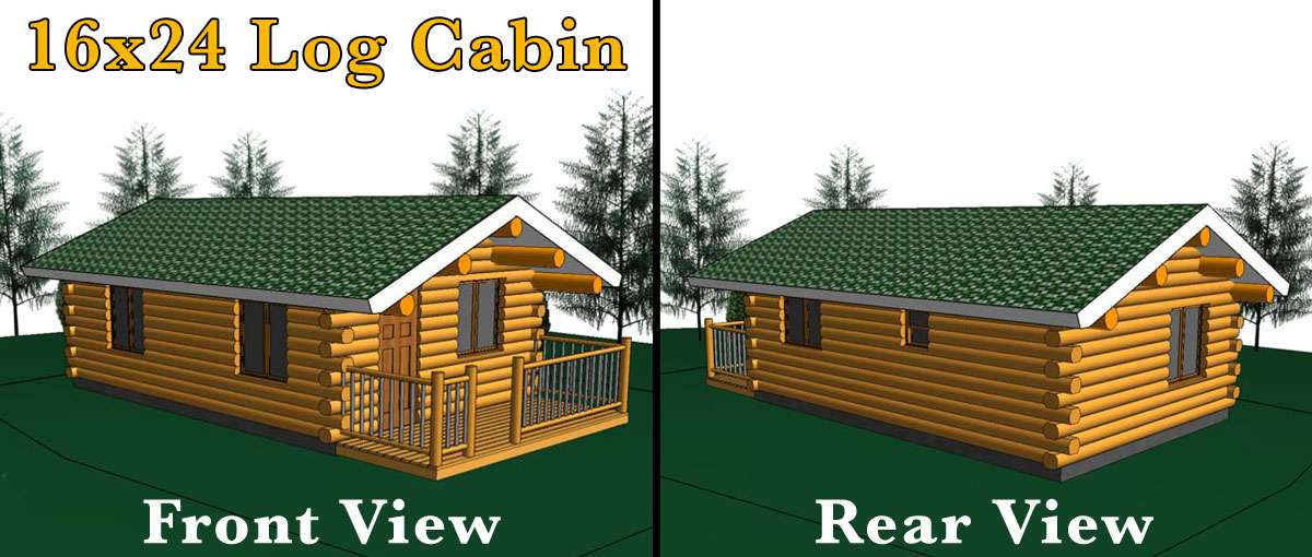 16x24 log cabin meadowlark log homes for 16x24 house