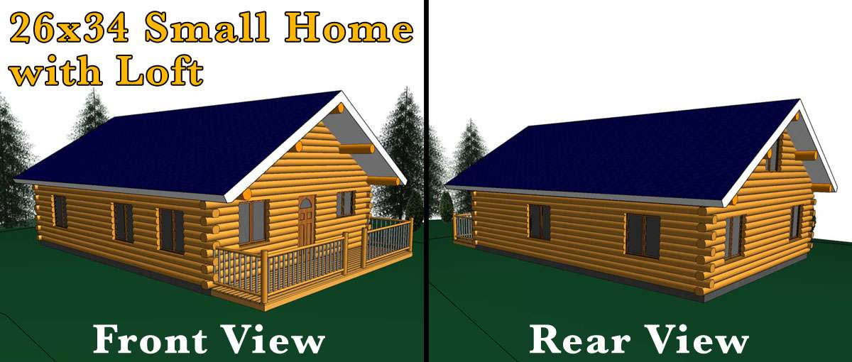 26x34 log home w loft meadowlark log homes for 24x30 cabin