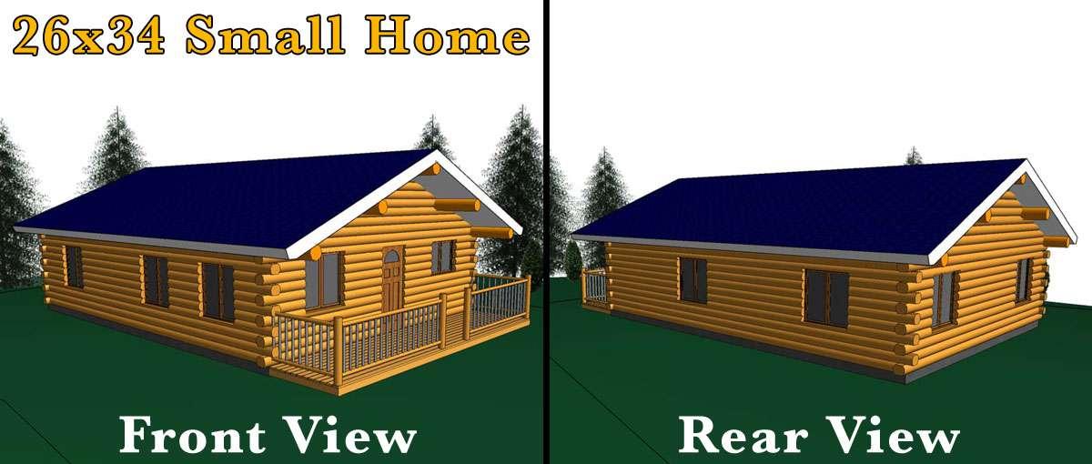 26x34 log home meadowlark log homes for 1000 sq ft home kits